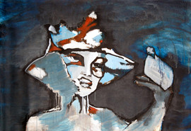 """How is freedom these days acrylic on canvas 2009 from """"space of possibility"""""""