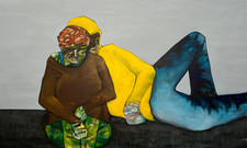 no title acrylic on canvas 360 x 205 cm  from into the moment in Lindegaard Poulsen collection