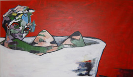 """No titel  Acrylic on canvas 120 x 200 cm  2013  From """" into the moment"""""""