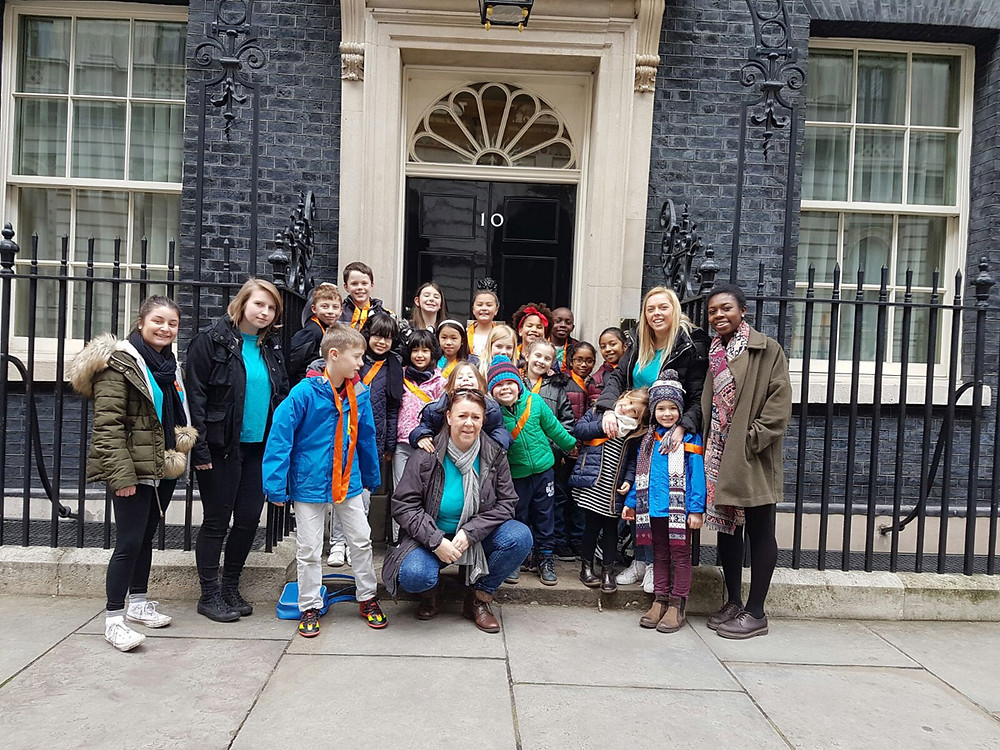 KidsOwn Holiday Club visits 10 Downing Street during February Half Term