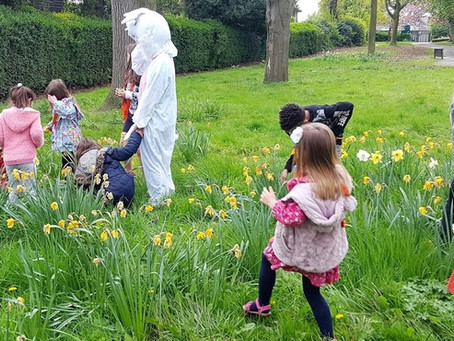 The KidsOwn Holiday Club goes on an Easter Egg Hunt