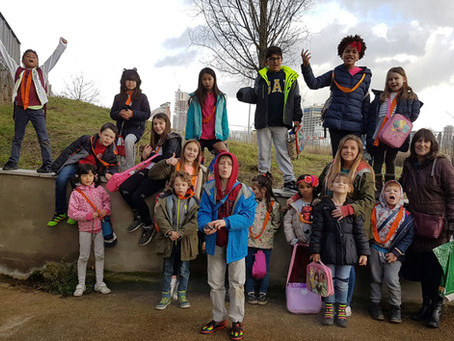 The KidsOwn Holiday Club goes Geocaching in the Olympic Park