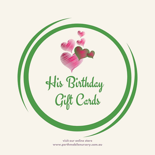 His Birthday Gift Cards
