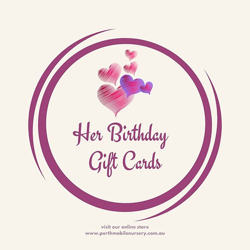 Her Birthday Gift Cards