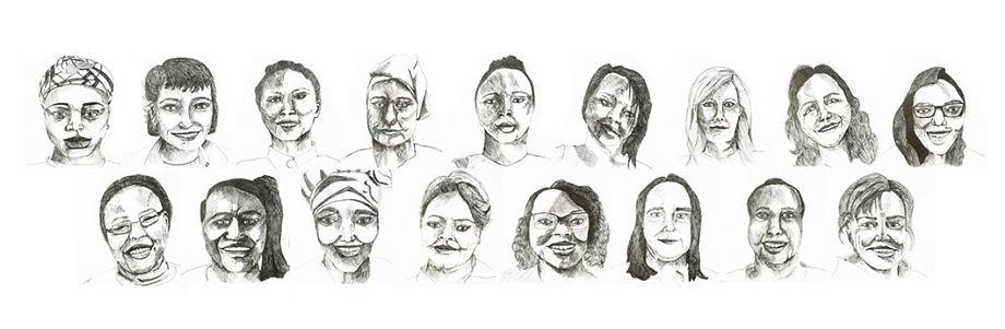 giacinta frisillo, 46cm x 127cm, gel pen, 4_Continents_Women_in_Glasgow.jpg
