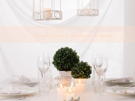Simplicidade e elegância à mesa