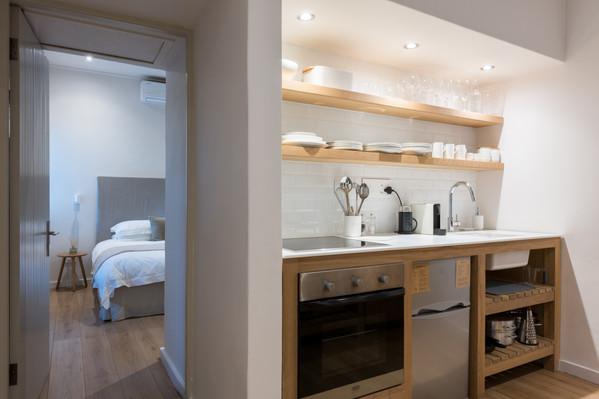 la chataigne guest suite - kitchen area