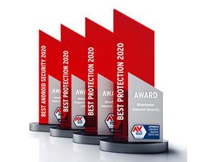 Bitdefender získává od AV-TEST čtyři ocenění za nejlepší ochranu