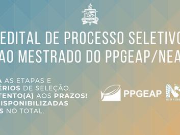 Edital de processo seletivo ao mestrado PPGEAP/NEAP