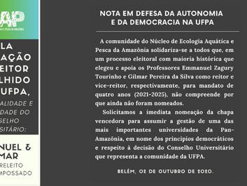 Nota em defesa da autonomia e da democracia na UFPA:
