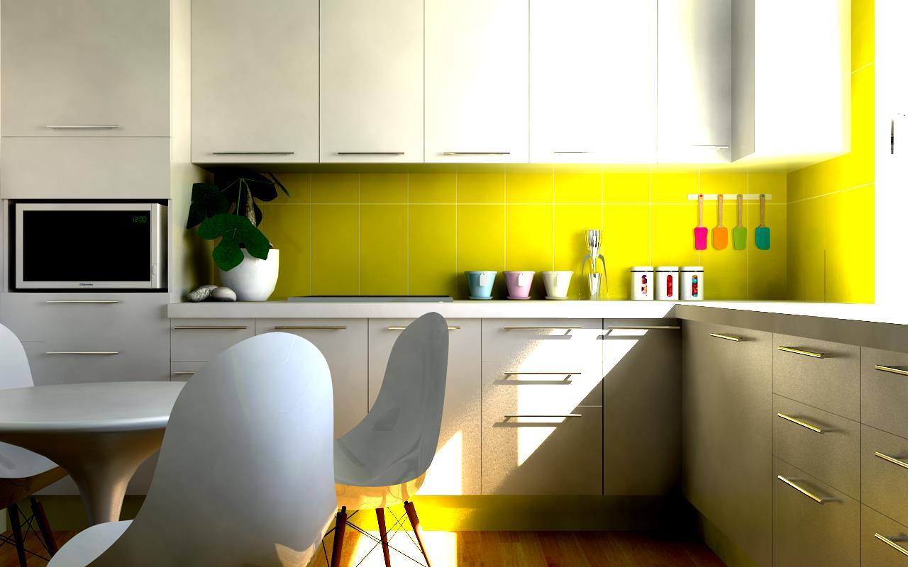 Küche mit speziellem Lichteinfall