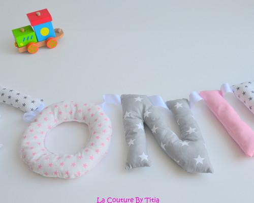 La Couture By Titia Créations pour bébé fait main, guirlandes prénoms