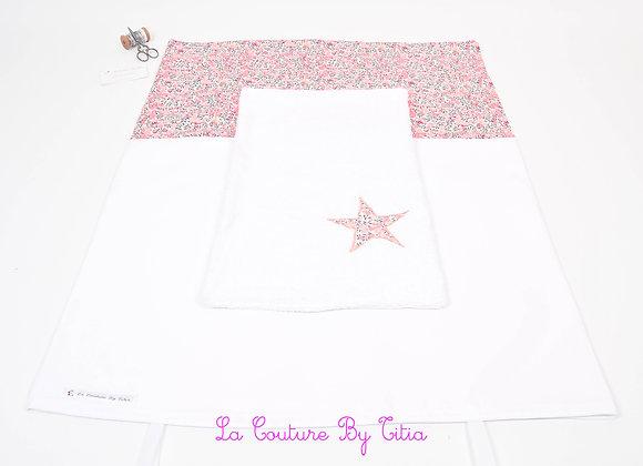 Housse de matelas à langer avec éponge blanc et étoiles Liberty Wiltshire