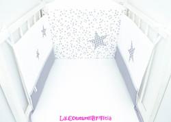 Tour de Lit blanc et chevron