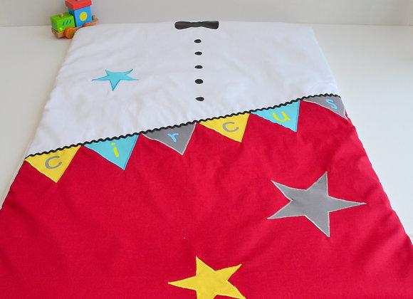 Couverture bébé personnalisable rouge et blanc Thème circus