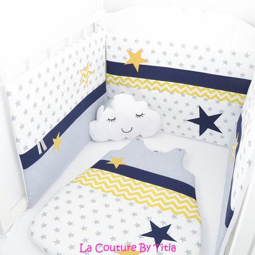 tour de lit gris et jaune cool lit with tour de lit gris. Black Bedroom Furniture Sets. Home Design Ideas
