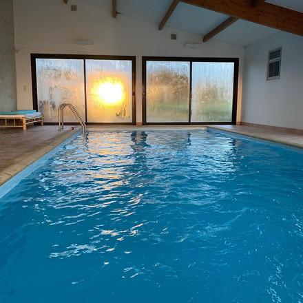 Sunrise in the indoor pool