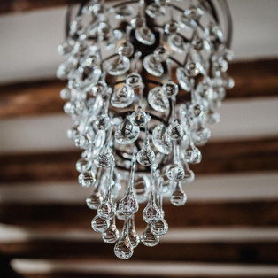 chandelier detail in the banquet hall