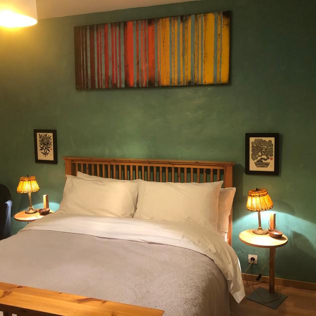 Viridian bedroom King size bed ensuite