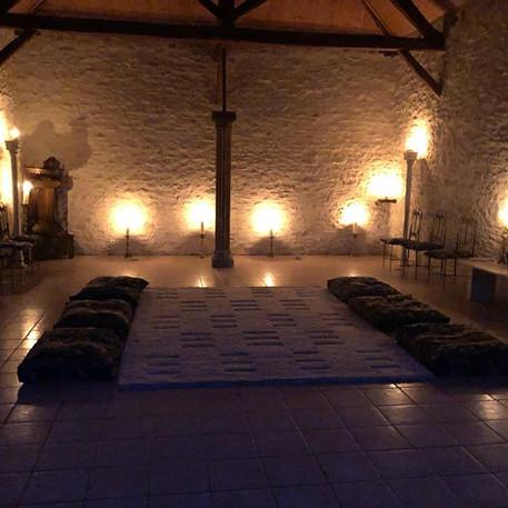 Meditation room by night.