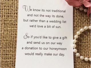 Wedding money poem