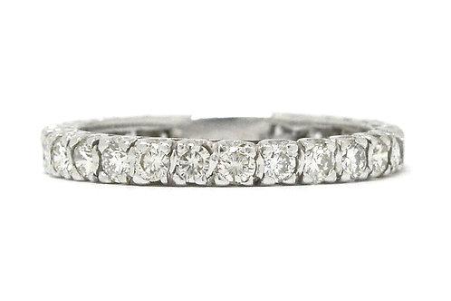 1 carat white diamonds eternity band