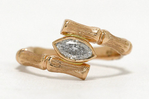 Marquise Diamond Bamboo Ring