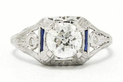 The Gilbert antique Edwardian diamond engagement ring.