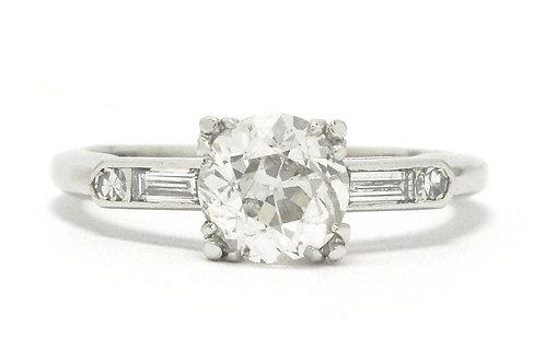 Colorado antique Art Deco diamond solitaire engagement ring