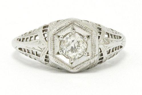 Stockton Edwardian diamond solitaire engagement ring