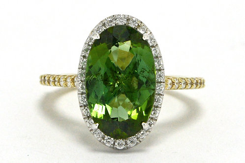 The Long Beach gemstone engagement ring oval tourmaline