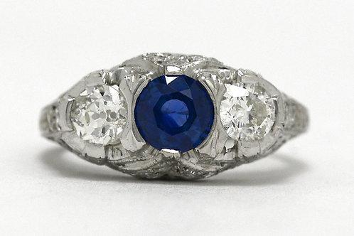 Sapphire 2 Diamond Ring