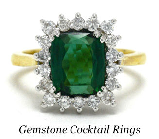 A green tourmaline gold cocktail ring
