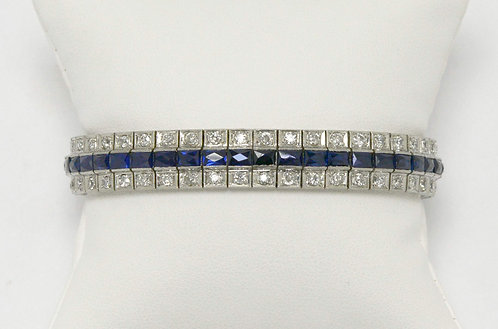 Original Art Deco diamond and sapphire bracelet