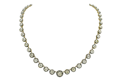 Victorian diamond riviere necklace