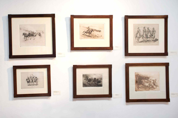 Sketches From the West, Original Cowboy Western Etchings