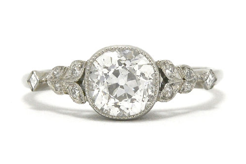 Santa Rosa Art Deco style solitaire diamond engagement ring