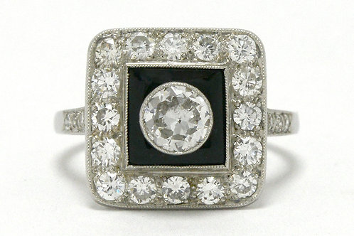 Santa Rosa Art Deco revivalist engagement ring