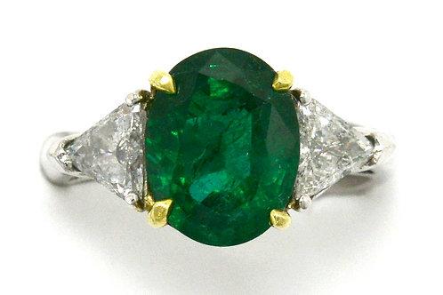 California emerald engagement ring trinity
