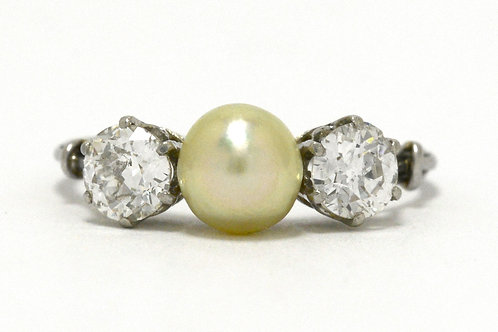 St. Petersburg Antique Pearl Engagement Ring