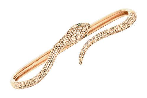 Rose gold snake bangle bracelet