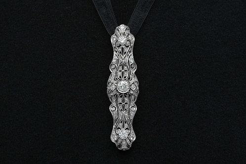 Long Diamond Brooch Pin