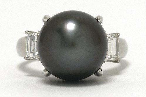 Tahitian Pearl Platinum Ring