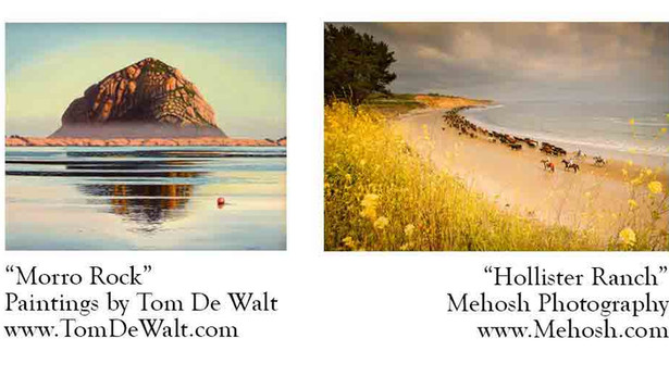 April Santa Barbara Artists; Mehosh Photography and Tom De Walt Paintings At Bella Rosa Galleries