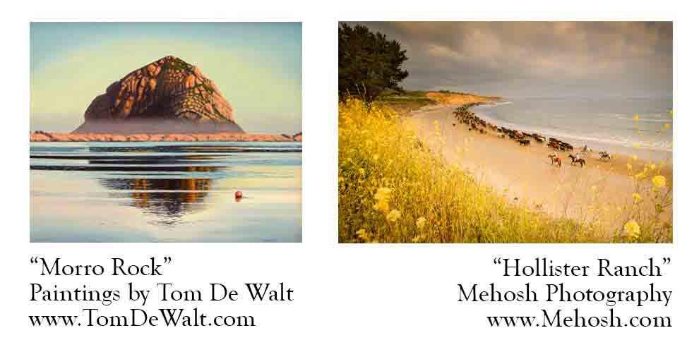 Tom De Walt, paintings, and Mehosh photography, Santa Barbara
