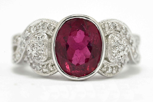 Pink Tourmaline Engagement Ring
