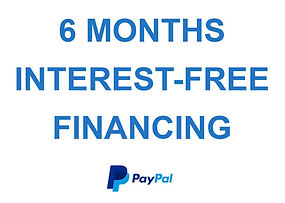 Interest free financing available from Paypal