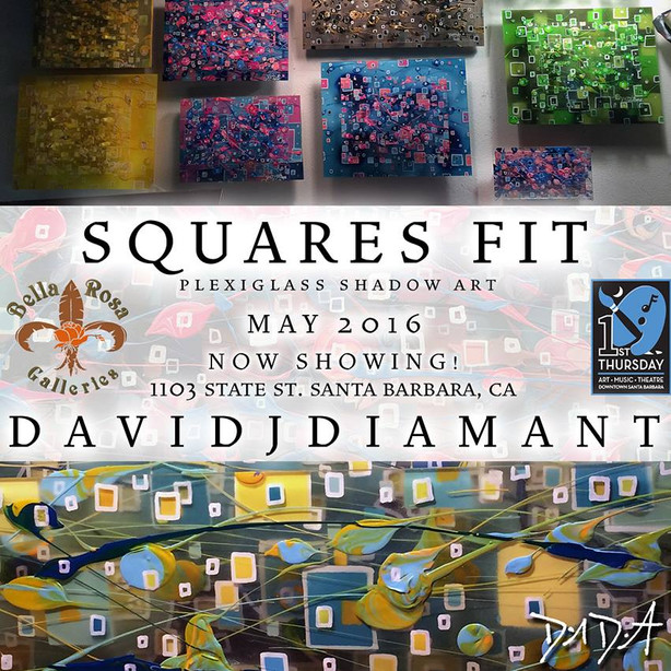 """Squares Fit"" Plexiglass Shadow Art Exhibit"