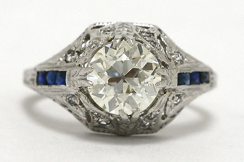 Old European Diamond Engagement Ring