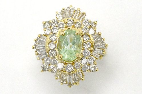 Eugene natural Paraiba tourmaline diamonds statement ring